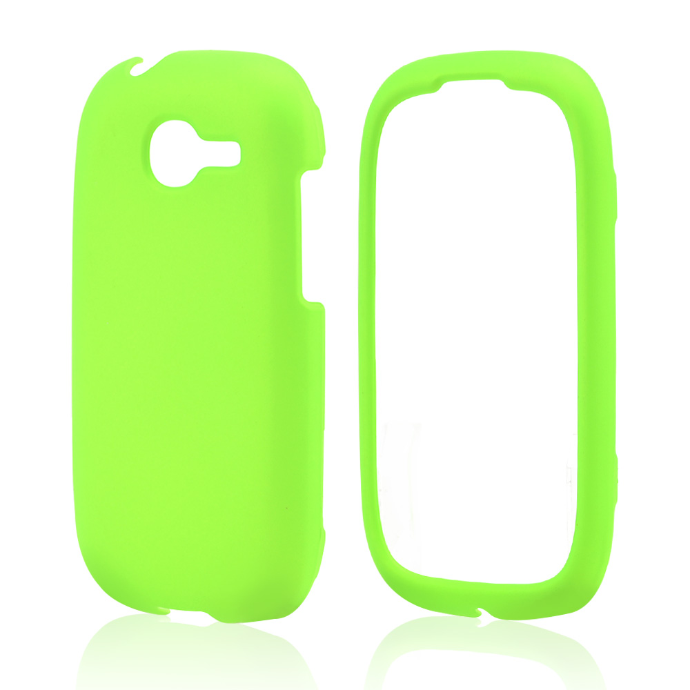 Neon Green Rubberized Hard Case for Samsung Gravity Q