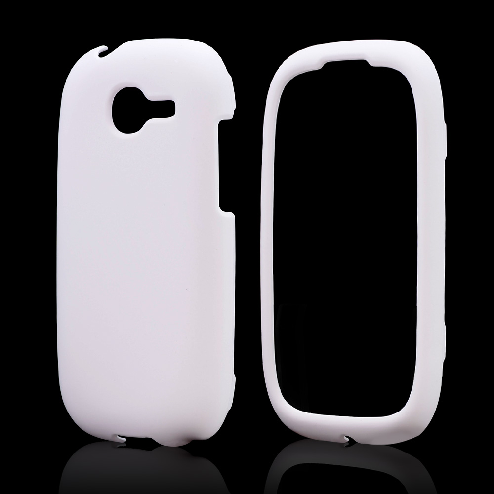 White Rubberized Hard Case for Samsung Gravity Q