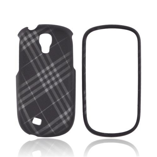 Samsung Gravity Smart Rubberized Hard Case - Gray Plaid on Black