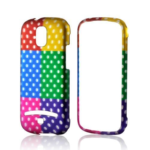 Multi-Colored Artsy Polka Dots Rubberized Hard Case for Samsung Galaxy S Relay 4G