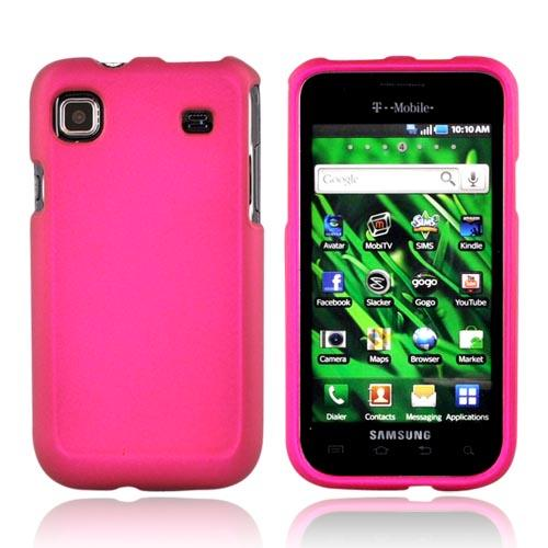 Luxmo Samsung Galaxy S 4G / Vibrant Rubberized Hard Case - Rose Pink
