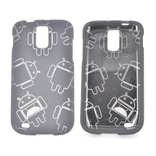 T-Mobile Samsung Galaxy S2 Rubberized Androitastic Hard Case - Black