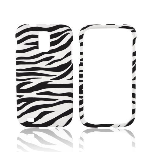 T-Mobile Samsung Galaxy S2 Rubberized Hard Case - White/ Black Zebra