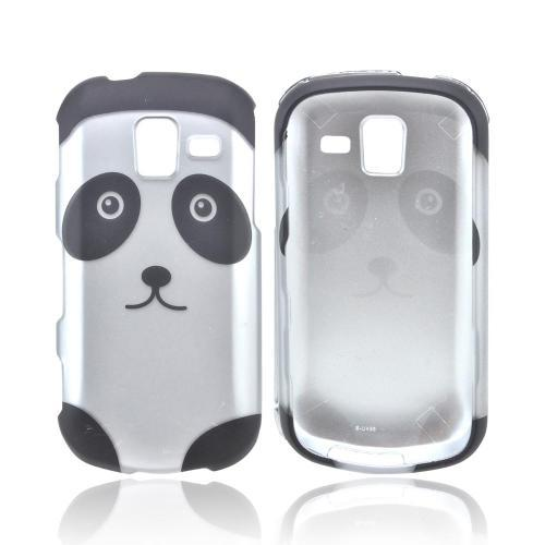 Samsung Intensity III Rubberized Hard Case - Silver/ Black Panda