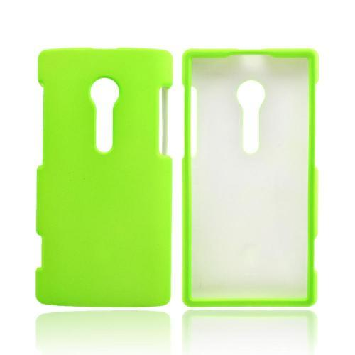 Sony Xperia Ion T28i Rubberized Hard Case - Neon Green
