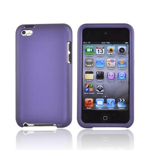 Luxmo Apple iPod Touch 4 Rubberized Hard Case - Purple