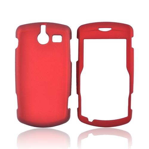 ZTE TXTM8 3G A410 Rubberized Hard Case - Red