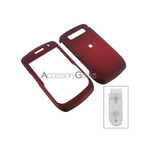 Blackberry Curve 8900 Rubberized Hard Case - Red