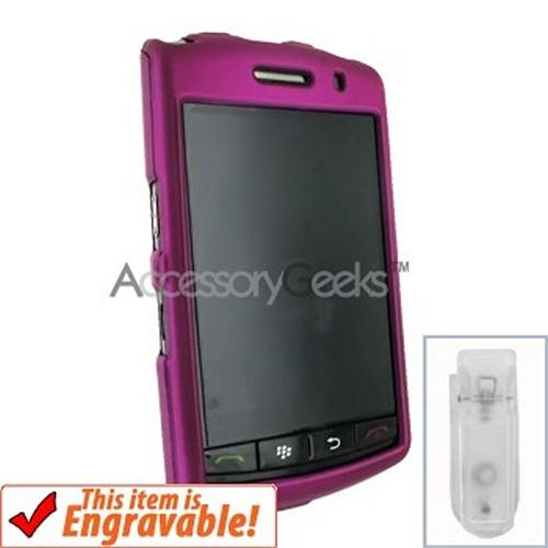 Blackberry Storm Rubberized Hard Case - Fushia