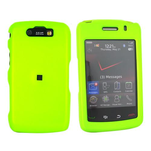 Blackberry Storm 2 9550 Rubberized Hard Case - Neon Green