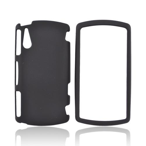 Sony Ericsson Xperia PLAY Rubberized Hard Case - Black