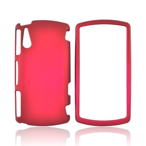 Sony Ericsson Xperia PLAY Rubberized Hard Case - Rose Pink