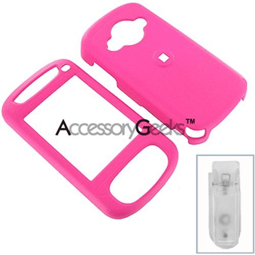 HTC Cingular 8525 Rubberized Protective Hard Case - Hot Pink