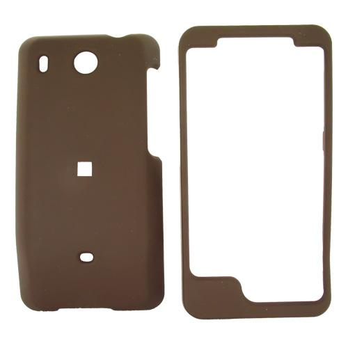 HTC Hero (GSM) Rubberized Hard Case - Brown