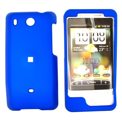 HTC Hero (GSM) Rubberized Hard Case - Blue