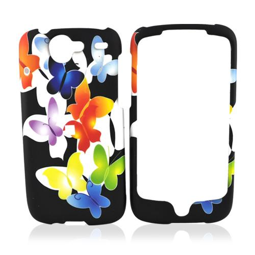 Google Nexus One Rubberized Hard Case - Colorful Butterflies
