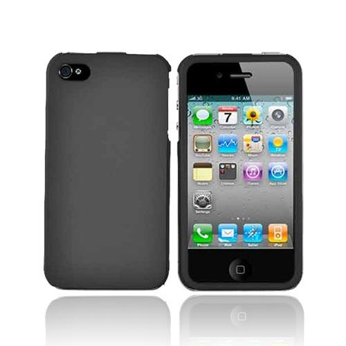 Apple Verizon/ AT&T iPhone 4, iPhone 4S Rubberized Hard Case - Black