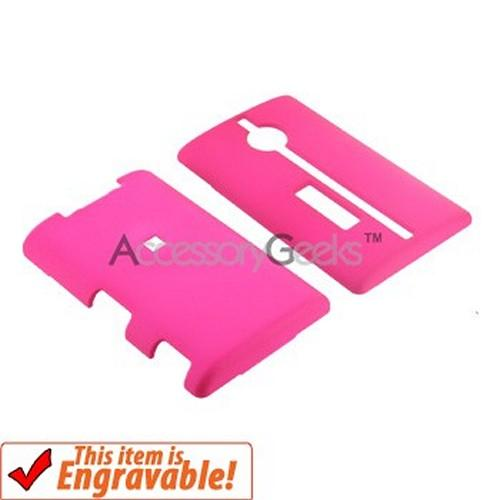 Kyocera Neo E1100 Rubberized Hard Case - Hot Pink
