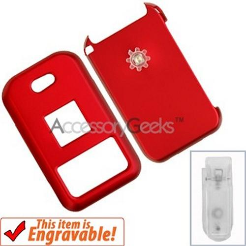 Kyocera E2000 Rubberized Hard Case - Red