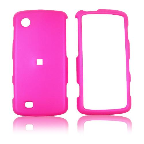Verizon LG Chocolate Touch VX8575 Rubberized Hard Case - Hot Pink