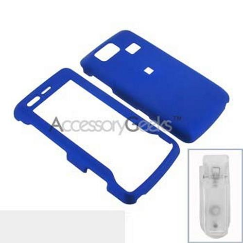LG Versa VX9600 Rubberized Hard Case - Blue