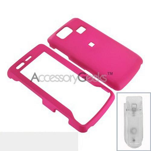 LG Versa VX9600 Rubberized Hard Case - Hot Pink