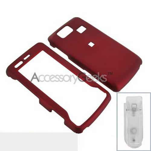 LG Versa VX9600 Rubberized Hard Case - Red