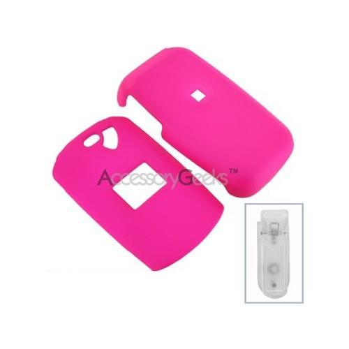 LG CP150 Rubberized Hard Case - Hot Pink