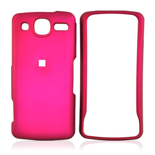 LG Expo GW820 Rubberized Hard Case - Rose Pink