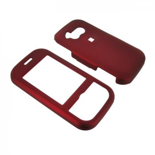 LG Neon GT365 Rubberized Hard Case - Red