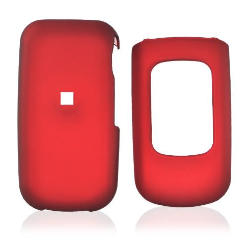 LG UX 220 Rubberized Hard Case - Red