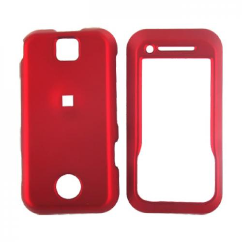Motorola Rival A455 Rubberized Hard Case - Red