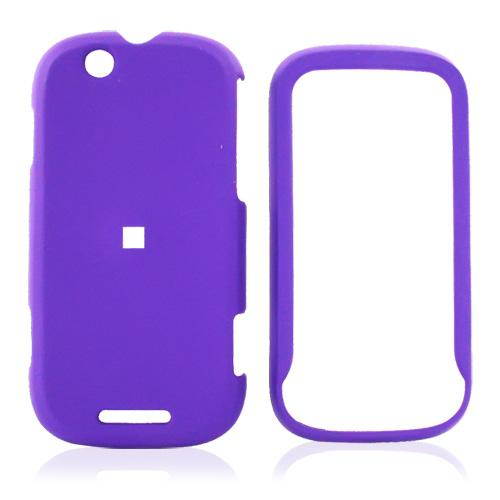 Motorola CLIQ Rubberized Hard Case - Purple