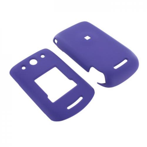 Motorola ROKR EM330 Rubberized Hard Case - Purple