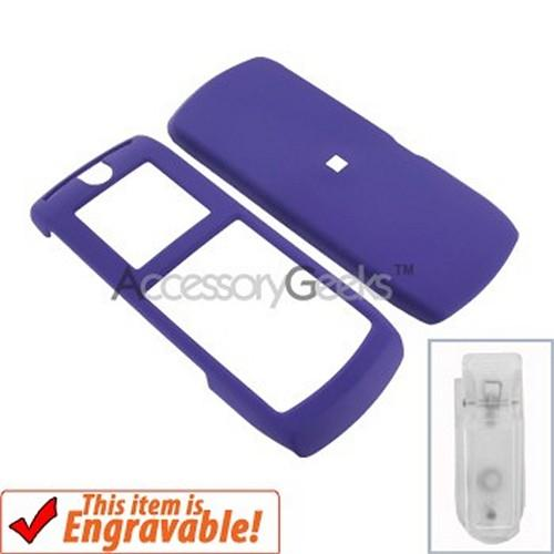 Motorola i290 Rubberized Hard Case - Purple