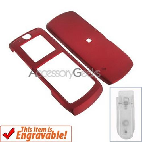 Motorola i290 Rubberized Hard Case - Red