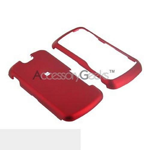 Motorola Clutch i465 Rubberized Hard Case - Red