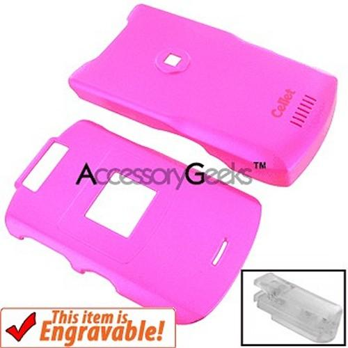 Motorola RAZR V3xx Rubberized Case w/Belt Clip - Hot Pink