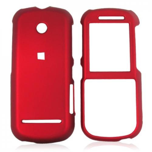 Motorola VE440 Rubberized Hard Case - Red