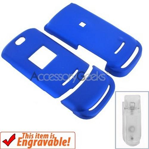 Motorola ACTV W450 Rubberized Hard Case - Blue