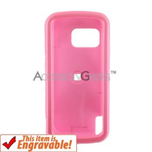 Nokia XpressMusic 5800 Rubberized Hard Case - Baby Pink
