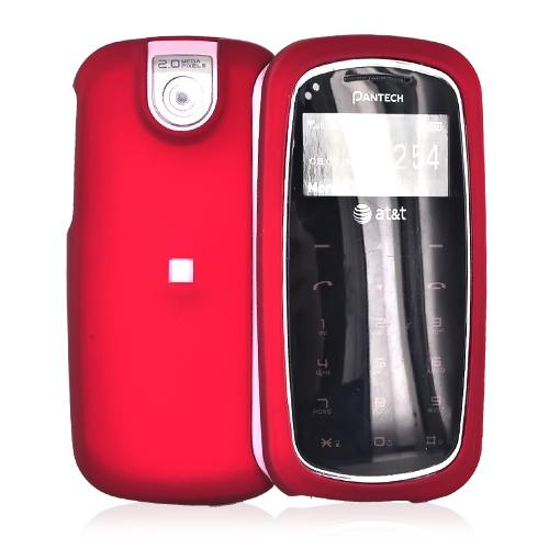 Pantech Impact P7000 Rubberized Hard Case - Red