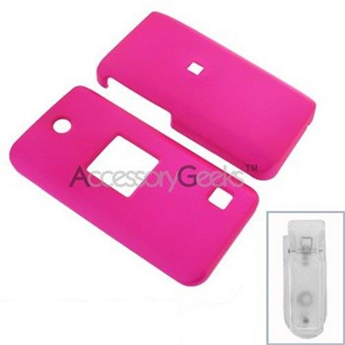 AT&T Pantech C610 Rubberized Hard Case - Hot Pink
