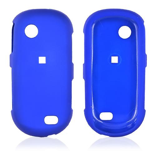 Samsung Burst A697 Rubberized Hard Case - Blue