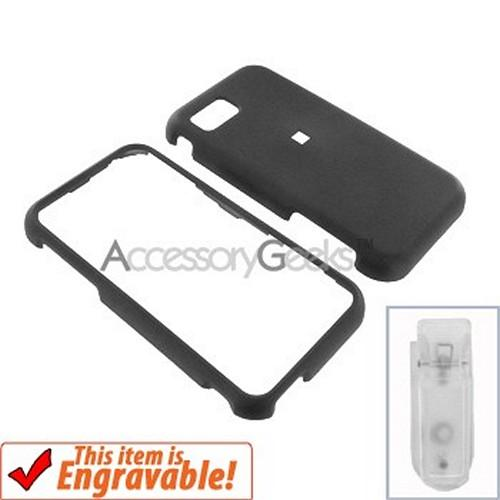 Samsung Eternity Rubberized Hard Case - Black