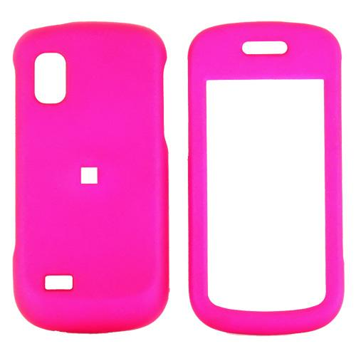 Samsung Solstice A887 Rubberized Hard Case - Hot Pink