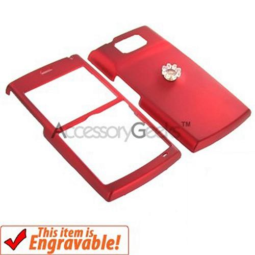 Samsung Blackjack 2 Rubberized Hard Case - Red