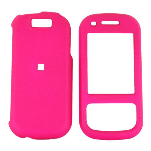 Samsung Exclaim M550 Rubberized Hard Case - Hot Pink
