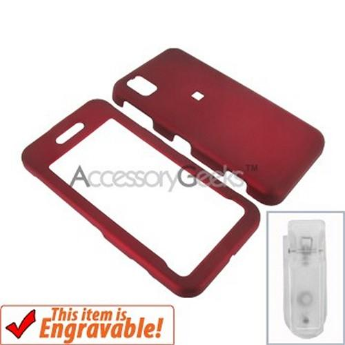Samsung Finesse Rubberized Hard Case - Red