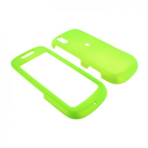 Samsung Instinct S30 Rubberized Hard Case - Neon Green